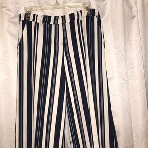 New York & Co. Striped Flowy Dress Pants
